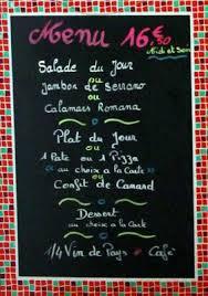 menu du jour drôme