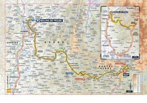 kaart Tour de France