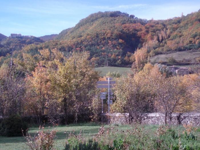 Herfstkleuren bij Poët-Celard