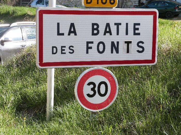Hier ontspringt de rivier de Drôme