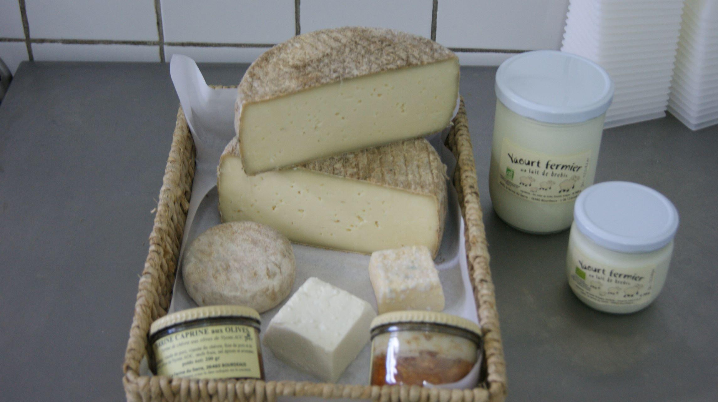 De schapenkaas en yoghurt van Sandrine, Bourdeaux