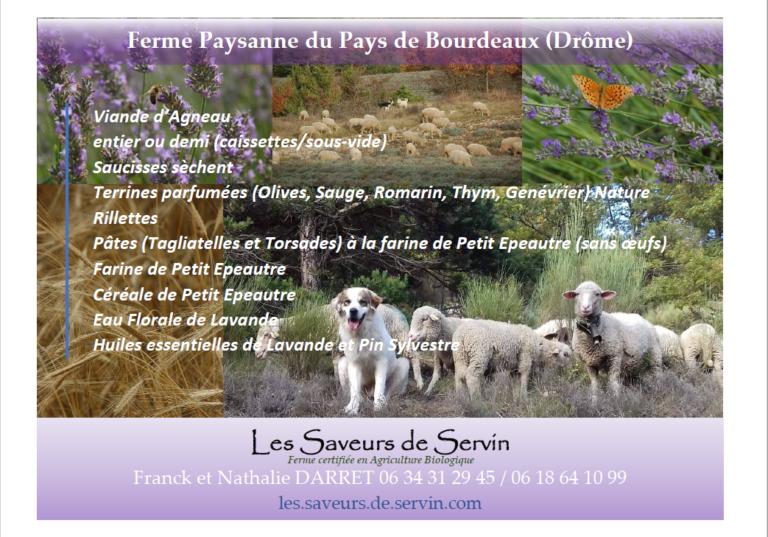 Les Saveurs de Servin, Boerderijproducten, Bourdeaux