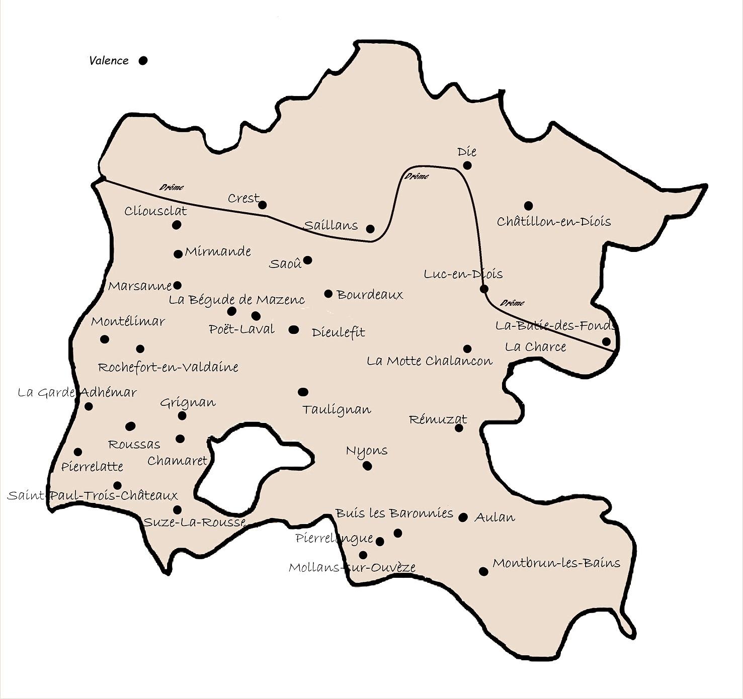 plattegrondje bij boek 'Verrassende Drôme'