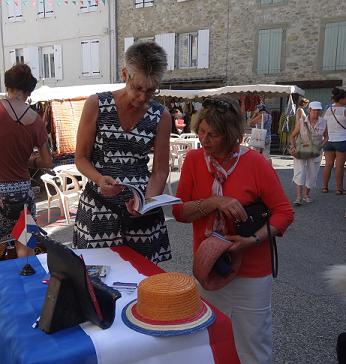 De eerste boekpresentatie en kaartje van de Drôme