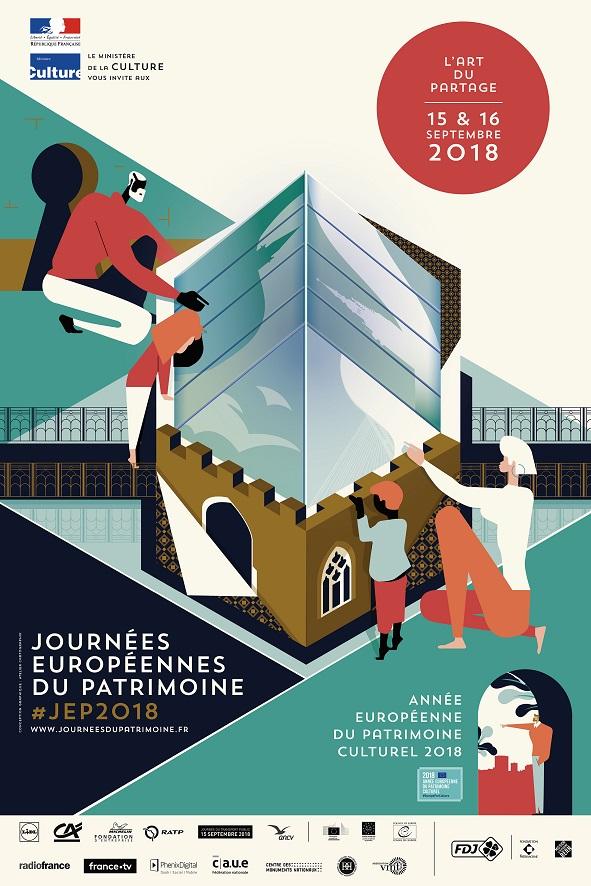 15 en 16/9 Journées Européennes du Patrimoine (open dagen monumenten)