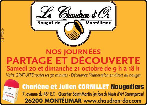 20 en 21/10 Open dagen bij Le Chaudron d'Or, nogafabriek in Montelimar