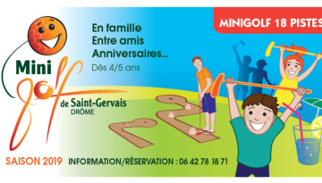 Nieuw: minigolf 18 banen in Saint Gervais sur Roubion
